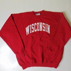 Wisconsin badgers Crewneck Sweatshirt Red Big Logo